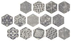 Ape IOWA Grey MIX - płytka gresowa heksagonalna