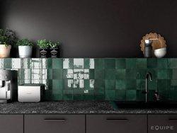 Equipe Artisan Green 13,2 x 13,2 cm - płytka ceramiczna ścienna
