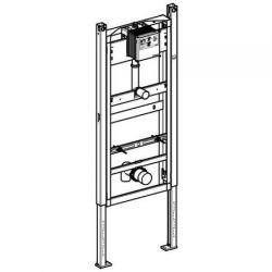 Geberit DuofixBasic - element montażowy do pisuaru uniwersalny, dla armatury podtynkowej, H130 + elektroniczny zawór spłukujący do pisuaru, IR