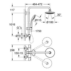 Grohe Euphoria - zestaw prysznicowy z baterią termostatyczną