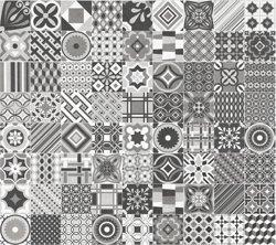 NovaBell Deco Cementine Mix - płytka ptachwork gresowa 20 x 20 cm