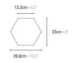 Quintessenza Alchimia ARS MIX bianco-nero - płytka ceramiczna heksagonalna