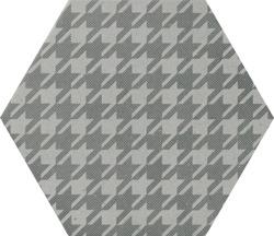 Quintessenza D'autore Pied de Poule Grigio - płytka heksagonalna w pepitkę