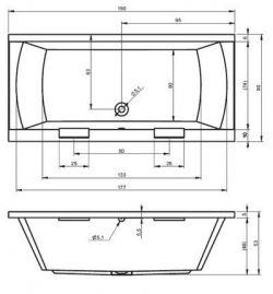RIHO Modena - wanna prostokątna 190 x 90 cm