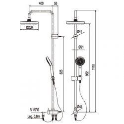 Tres Lex-Tres - zestaw prysznicowy ECO-TERM