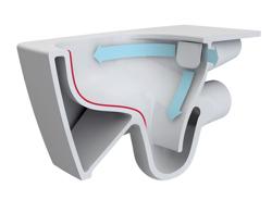 Vitra Metropole 56 RIM-EX - miska WC podwieszana bezkołnierzowa + deska wolnoopadająca slim